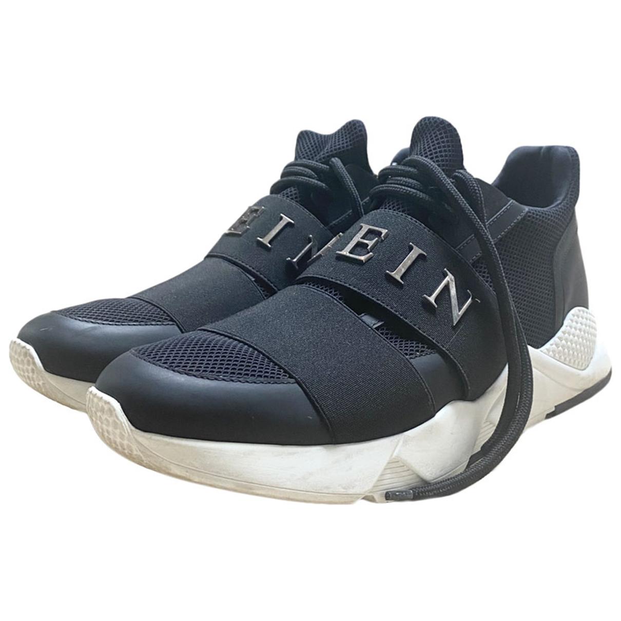Philipp Plein Phantom Kick$ Sneakers in  Schwarz Leder