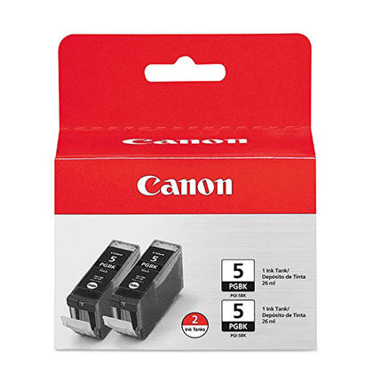 Canon PGI-5BK 0628B009 Original Pigment Black Ink Cartridge Twin Pack