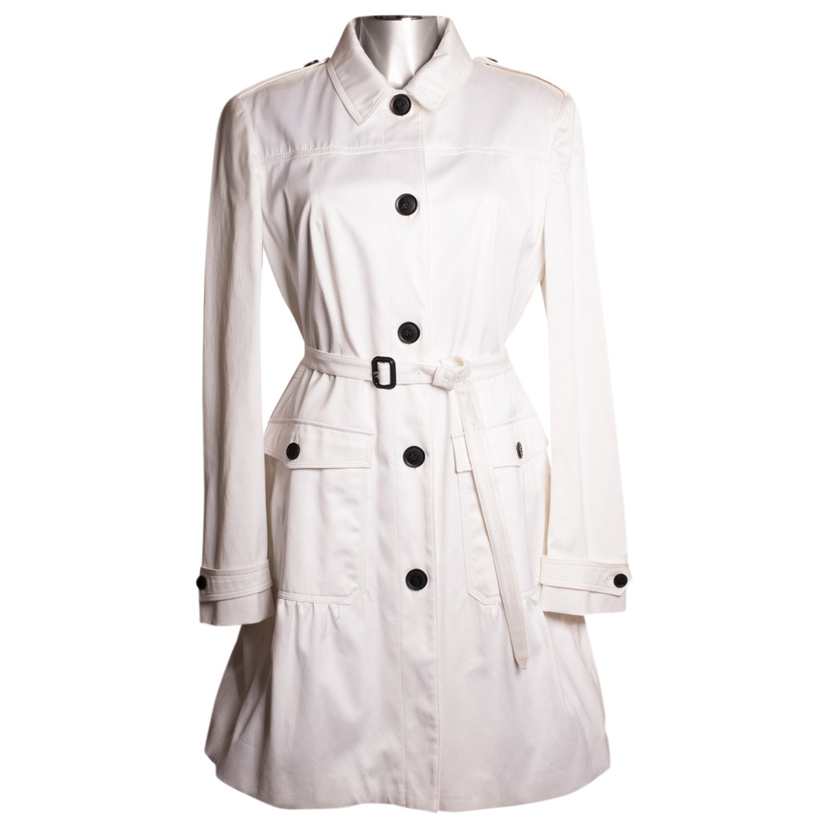 Burberry \N White Cotton Trench coat for Women 16 UK