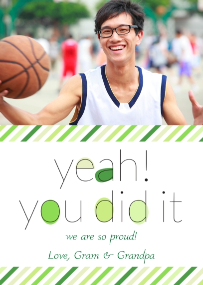 Congratulations Mail-for-Me Premium 5x7 Folded Card , Card & Stationery -Congratulations - Yeah! You Did It.
