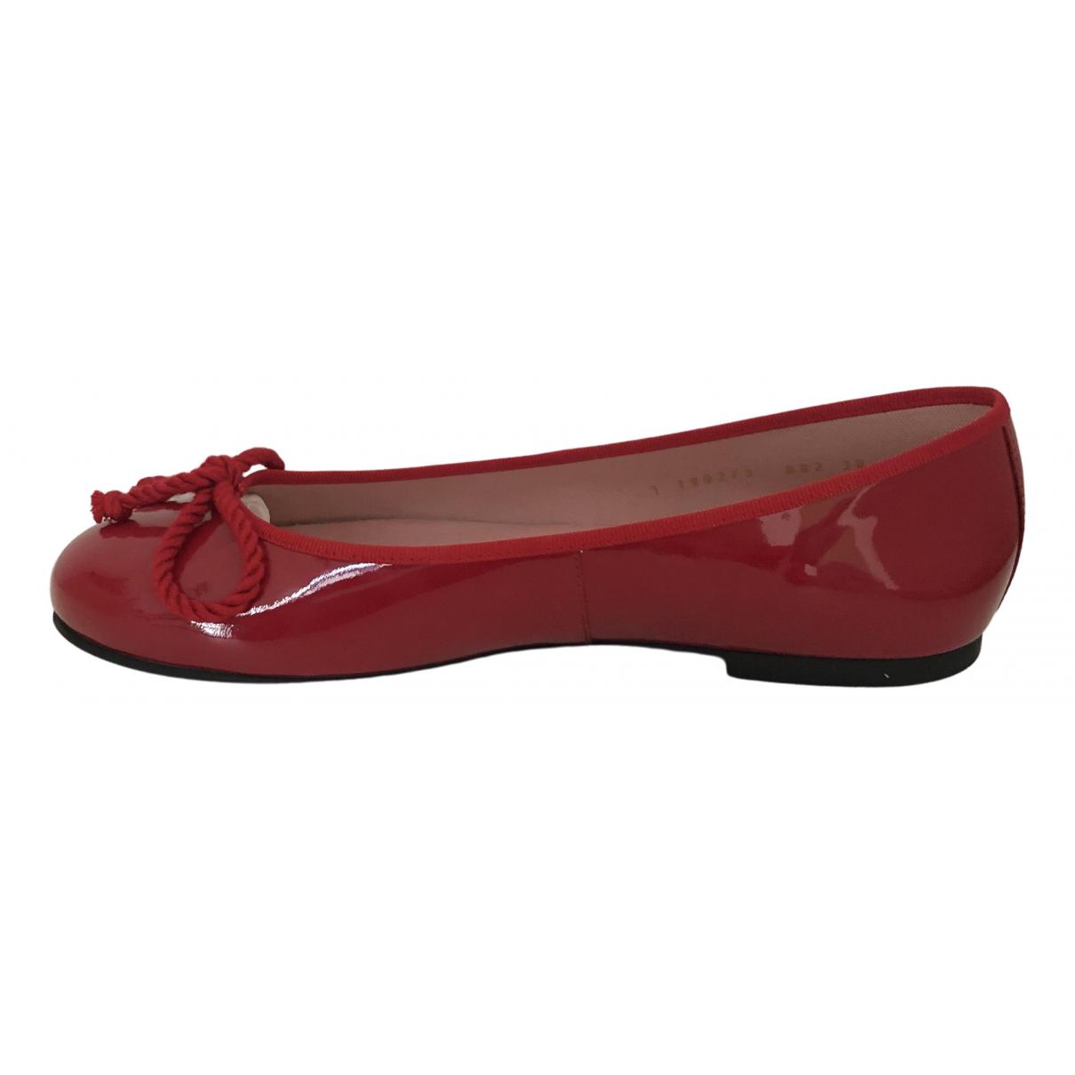 Pretty Ballerinas \N Ballerinas in  Rot Leder