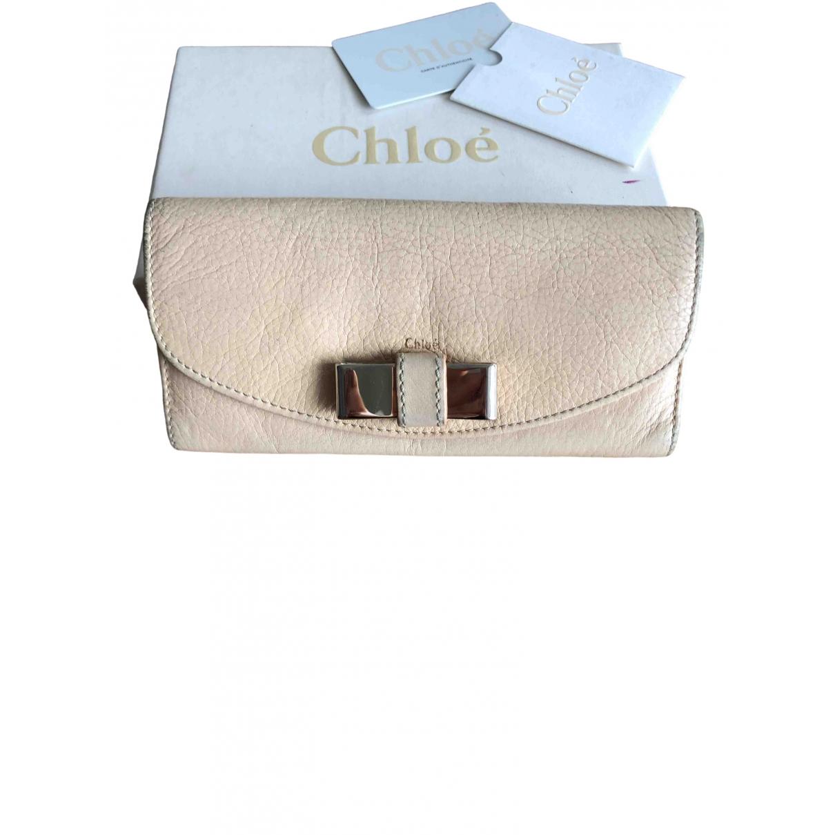Chloe - Portefeuille   pour femme en cuir - rose