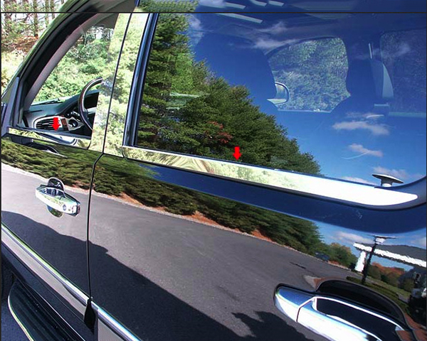 Quality Automotive Accessories 4-Piece Window Sill Trim Chevrolet Tahoe 2008