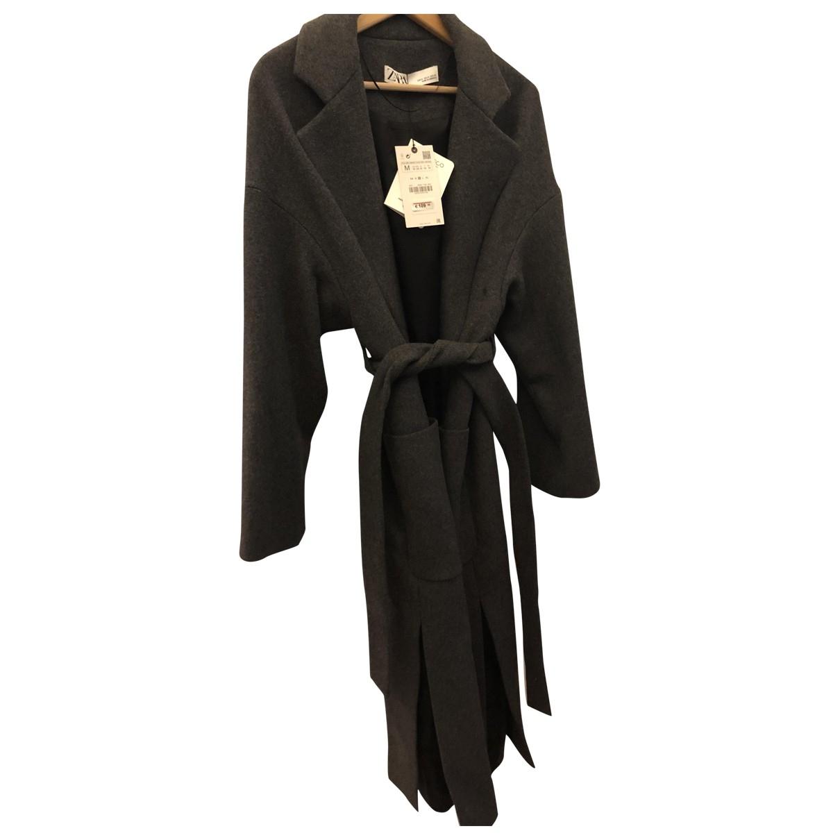 Zara \N Grey Wool coat for Women M International