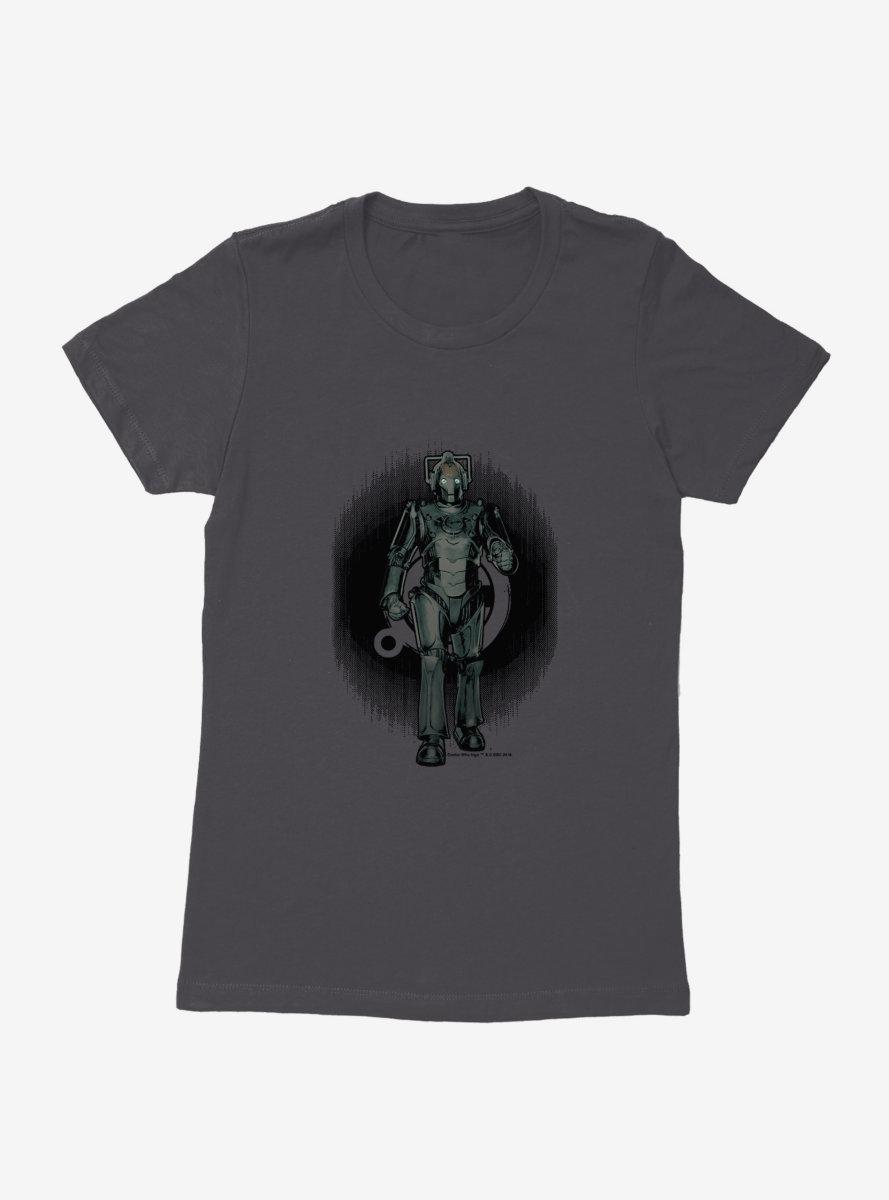 Doctor Who Cybermen Distorted Emblem Womens T-Shirt