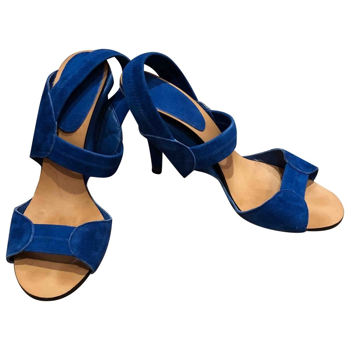 Chloé \N Blue Suede Sandals for Women 39.5 EU