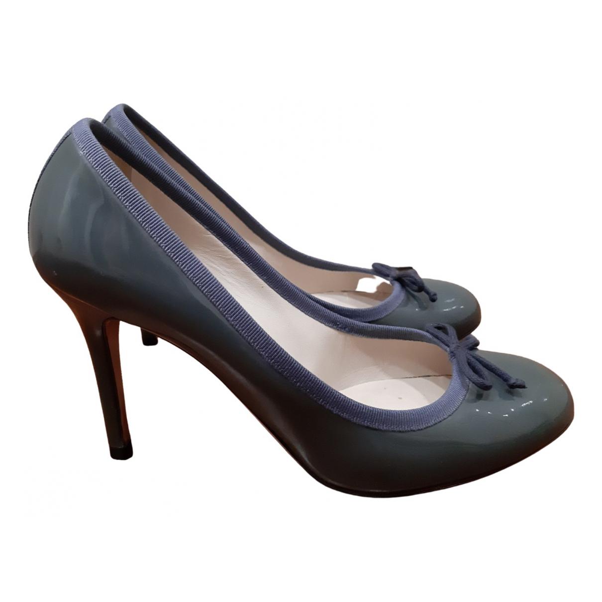 D&g - Escarpins   pour femme en cuir verni - bleu