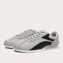 Men Letter Graphic Colorblock Sneakers