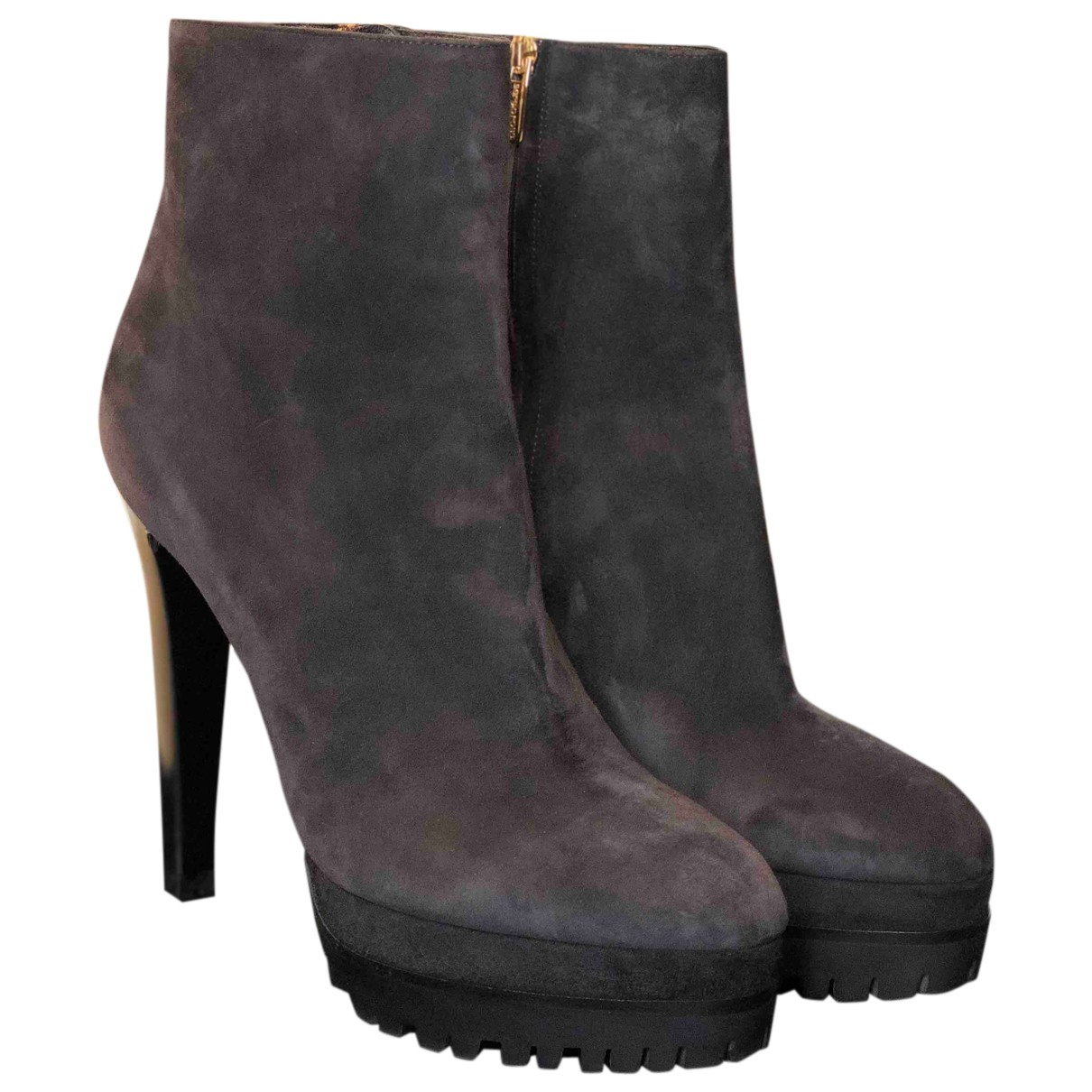 Sergio Rossi N Grey Suede Ankle boots for Women 41 IT