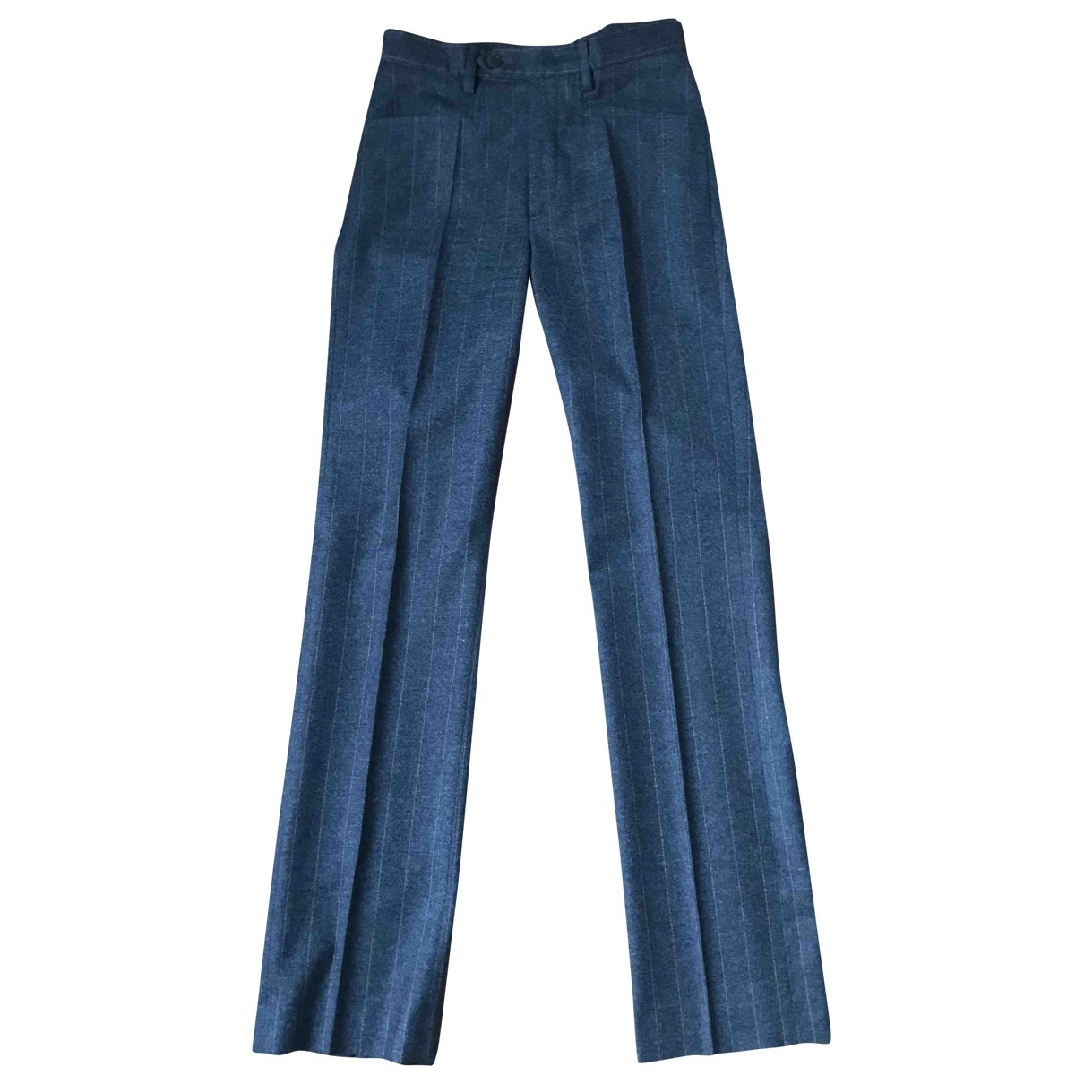 Joseph \N Anthracite Wool Trousers for Women XS International