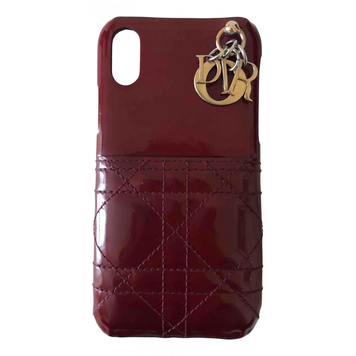Dior - Accessoires   pour lifestyle en cuir verni - rouge
