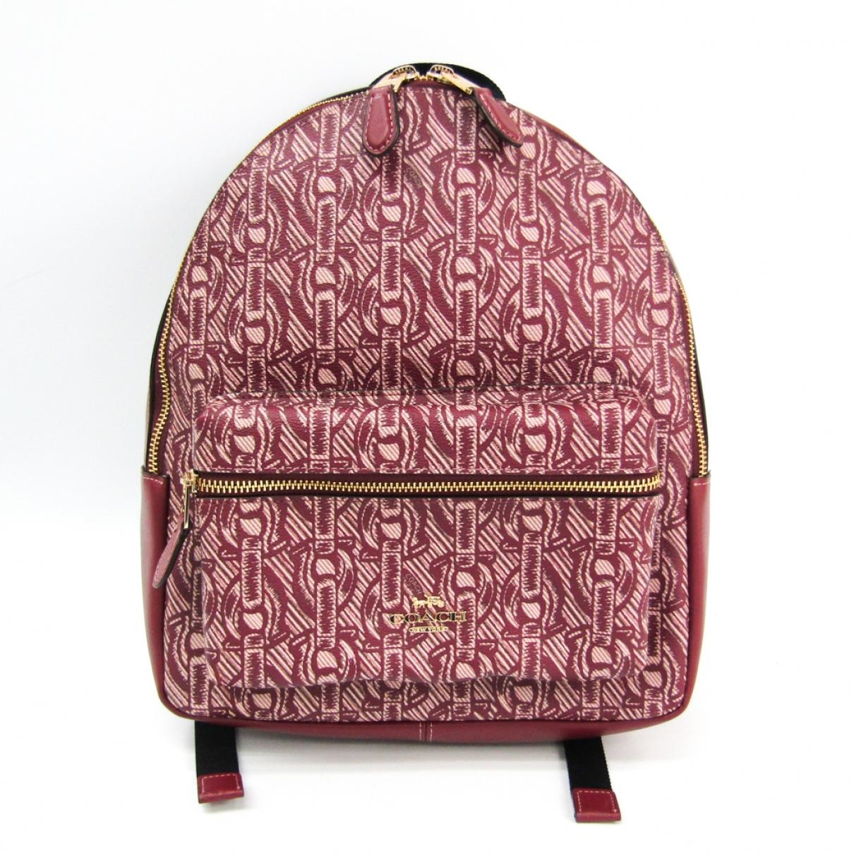 Coach \N Burgundy Leather backpack for Women \N
