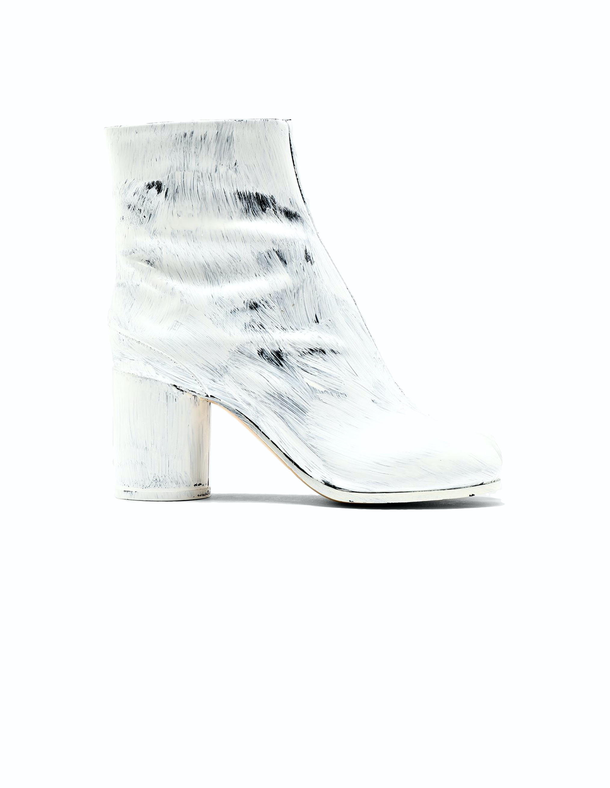 Maison Margiela Tabi Painted Leather Ankle Boots