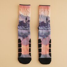 Calcetines de hombres de tie dye