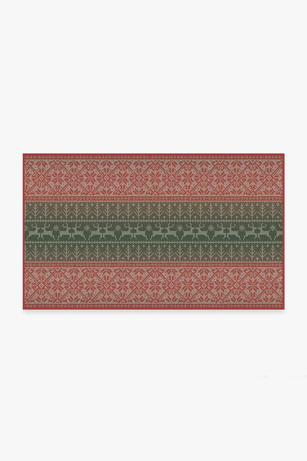 Washable Rug Cover & Pad | Fair Isle Multicolor Rug | Stain-Resistant | Ruggable | 3'x5'