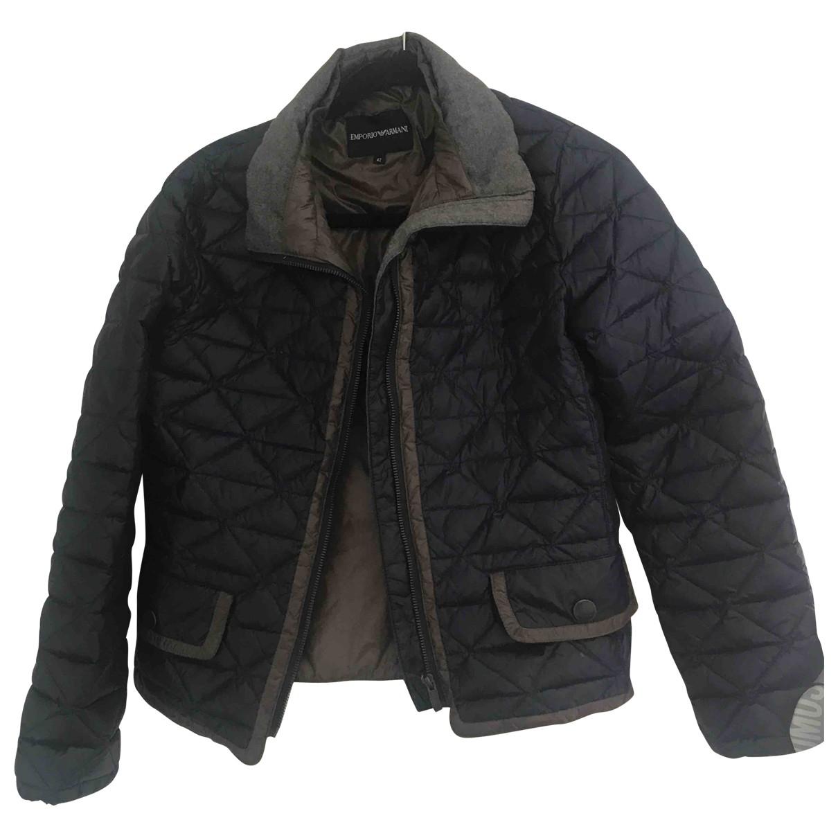 Emporio Armani \N Jacke in  Blau Polyester