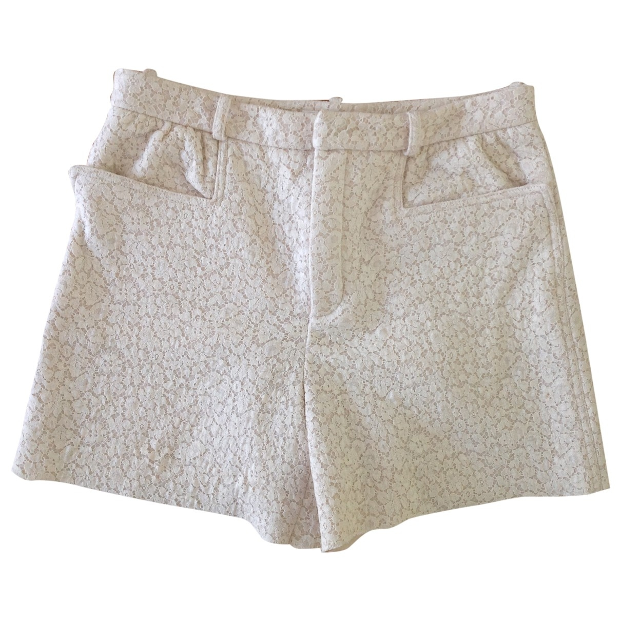 Chloé \N White Cloth Shorts for Women 40 FR