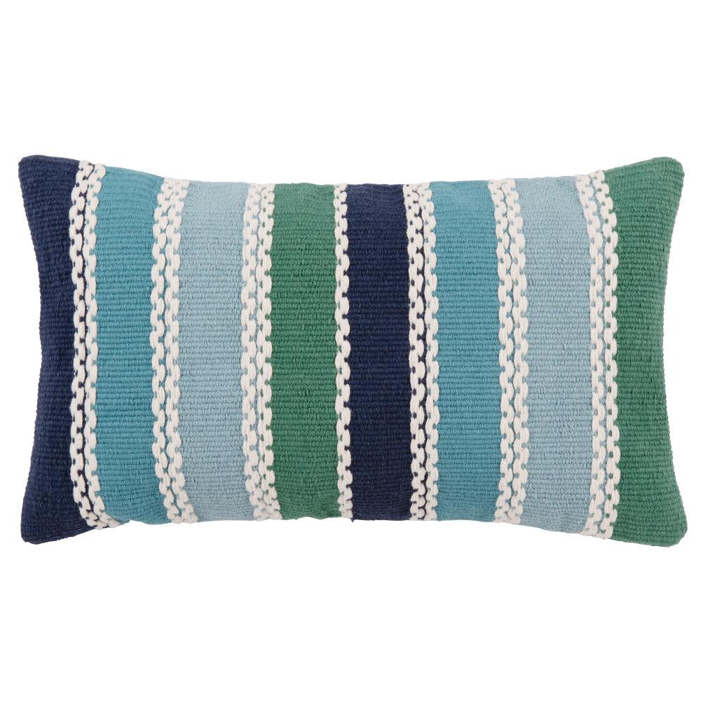Kissenbezug aus Baumwolle mit buntem Streifenmotiv 30x50