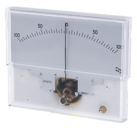 Sifam Tinsley Analogue Panel Ammeter 50μA DC, 40.5mm x 91.5mm, ±1.5 % Moving Coil