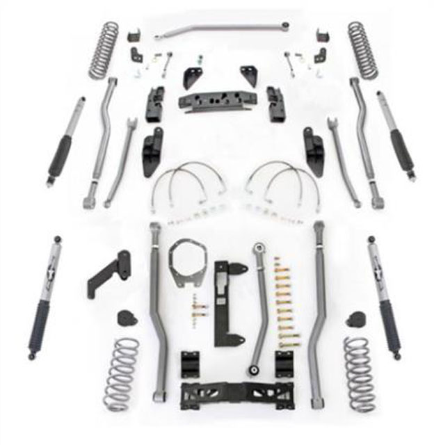3.5 Inch JK Lift Kit Extreme Duty Long Arm System 4 Link Front 3 Link Rear W/Shocks 07-18 Jeep Wrangler JKU 4 Dr Rubicon Express JK4343M