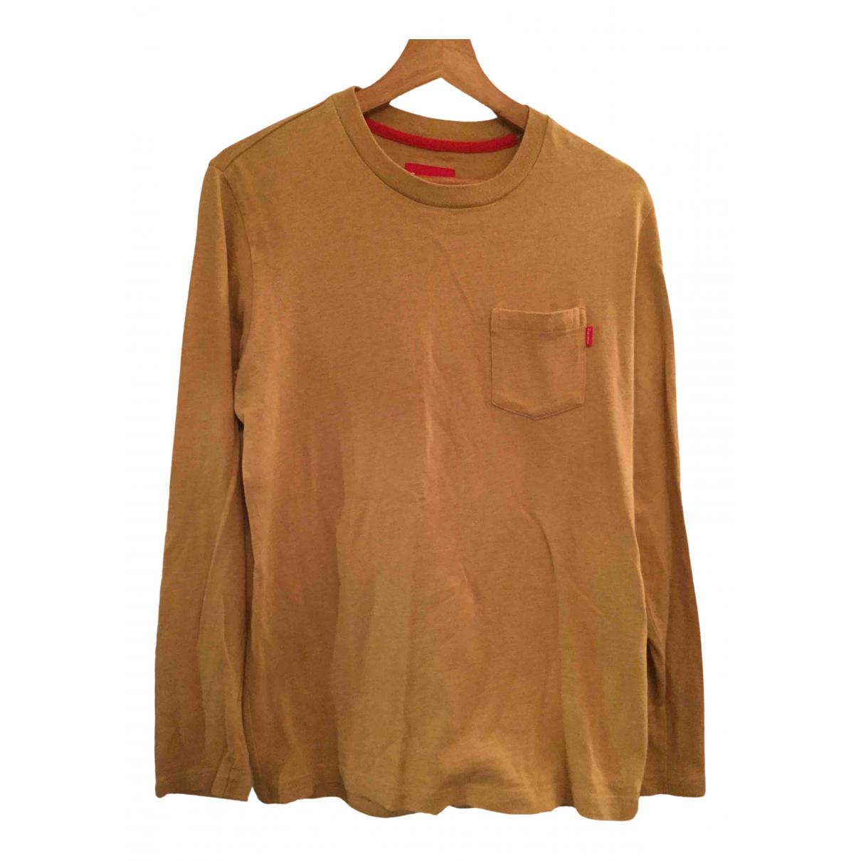 Supreme \N Pullover.Westen.Sweatshirts  in  Beige Baumwolle