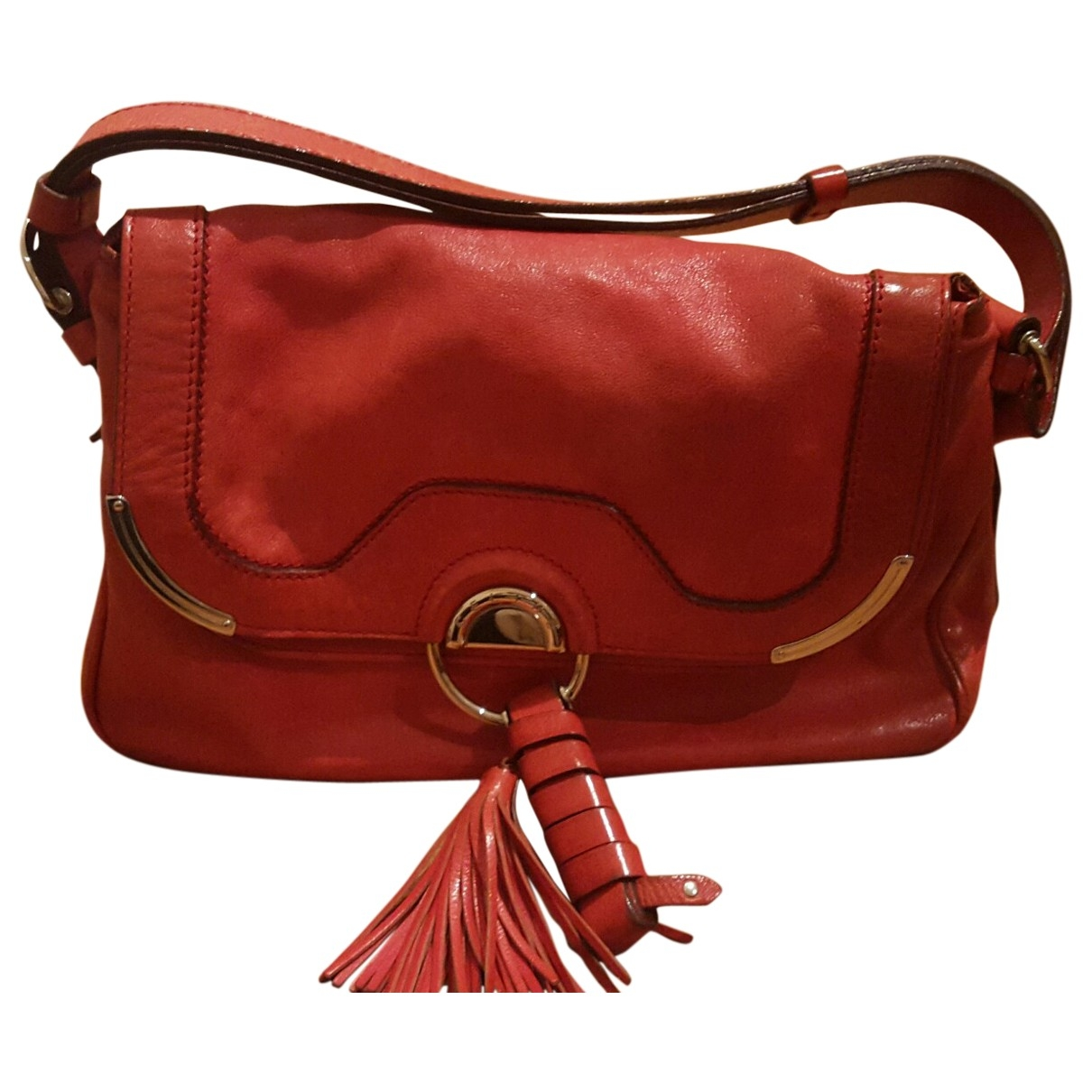 Celine \N Red Leather handbag for Women \N