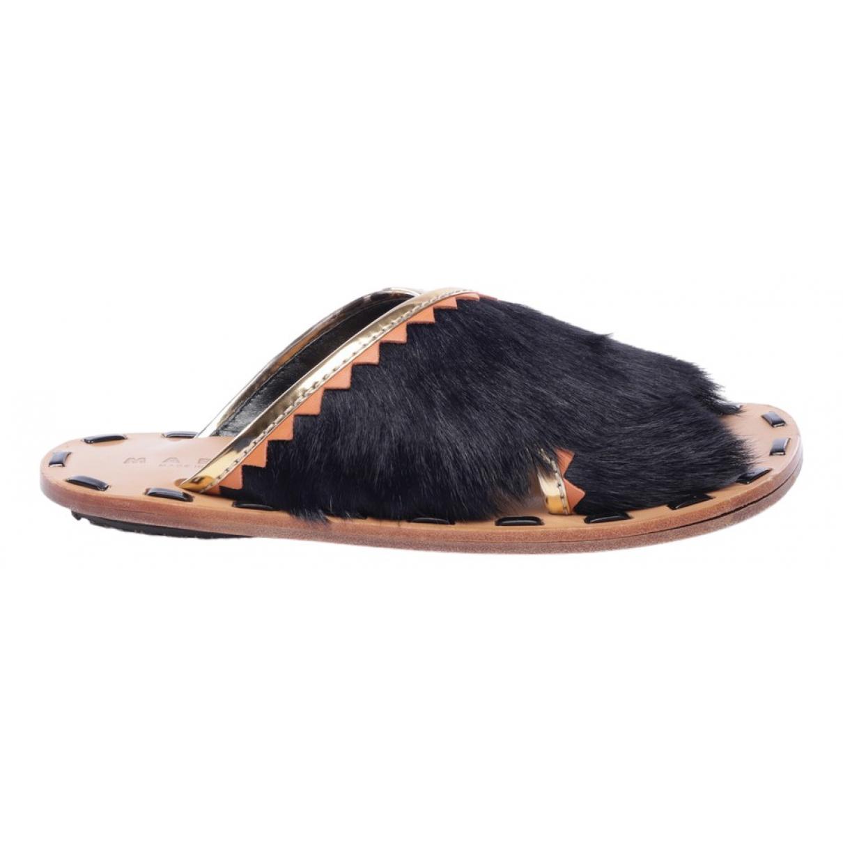 Marni \N Black Leather Sandals for Women 39 EU