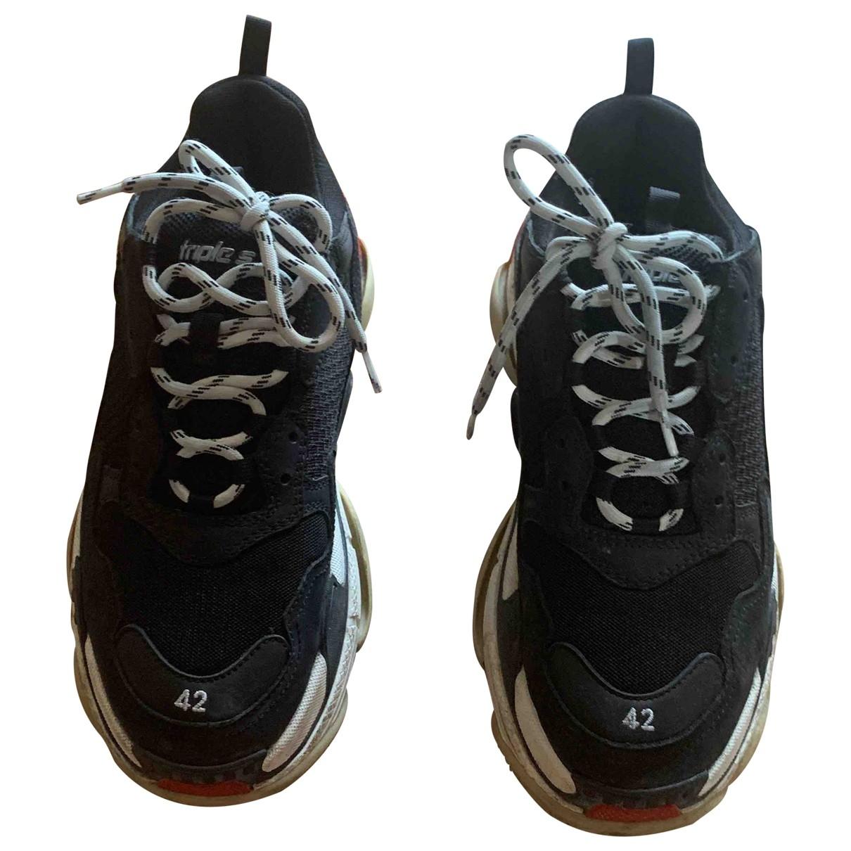 Balenciaga - Baskets Triple S pour homme - noir