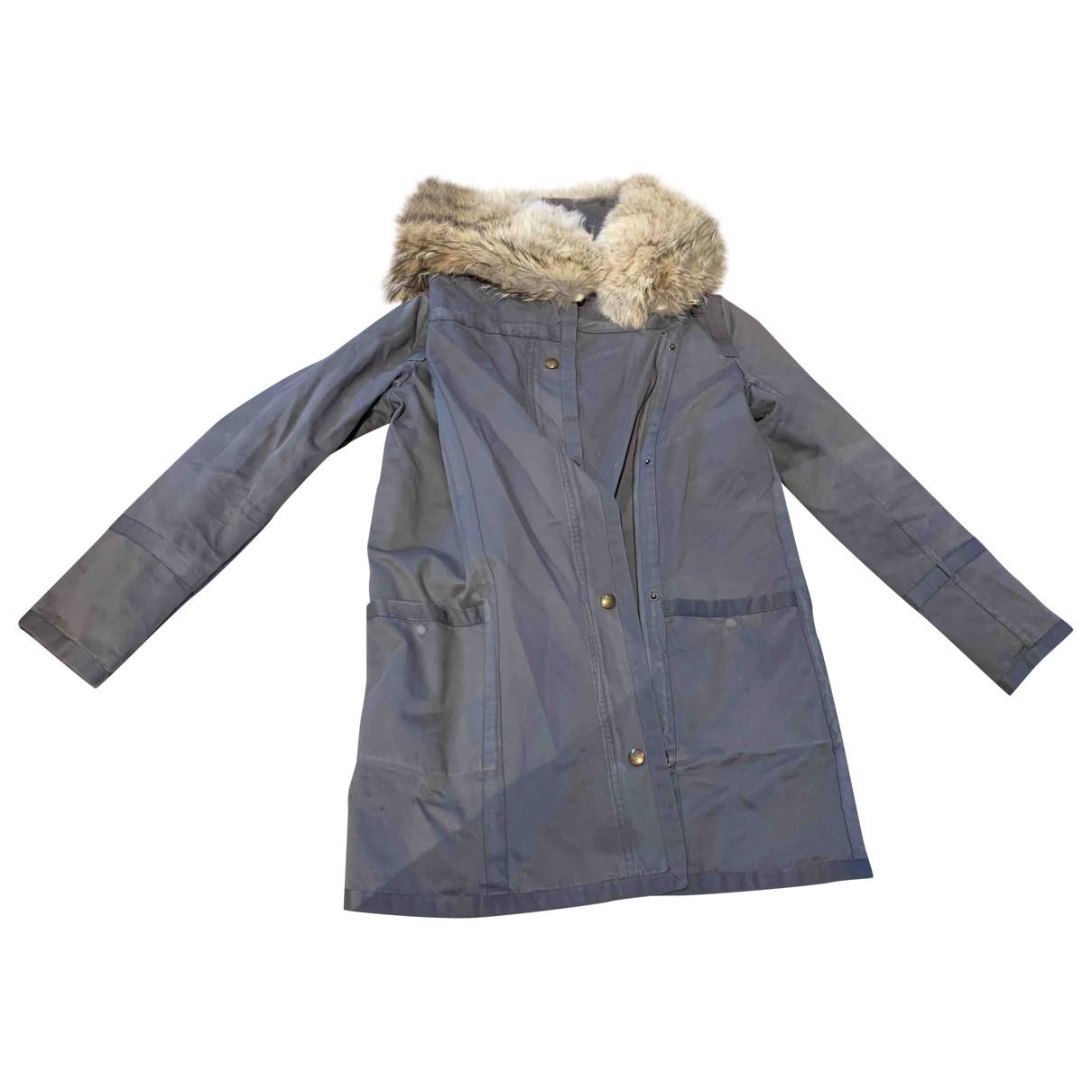 Yves Salomon \N Khaki Fur coat for Women 36 FR