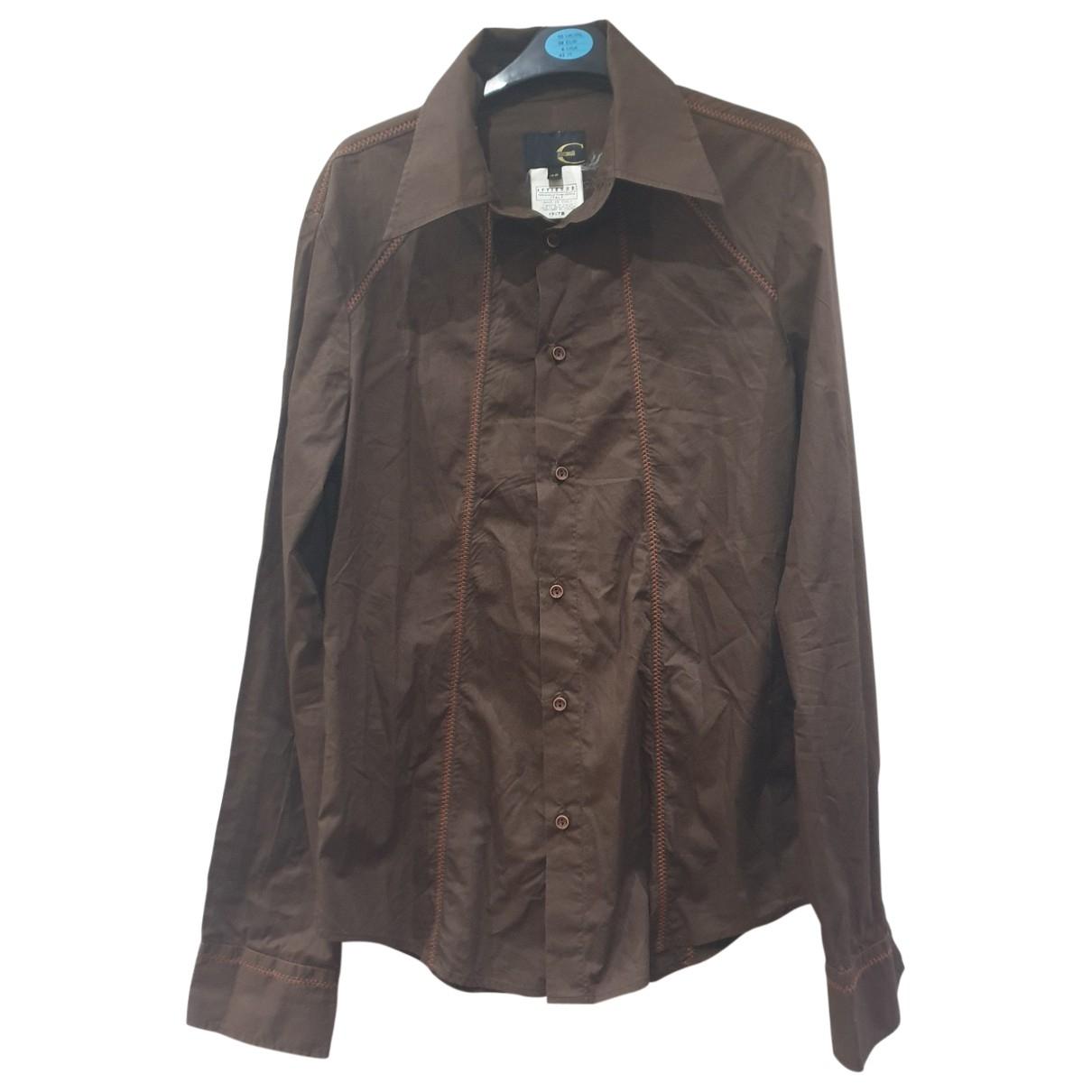 Just Cavalli \N Brown Cotton Shirts for Men M International