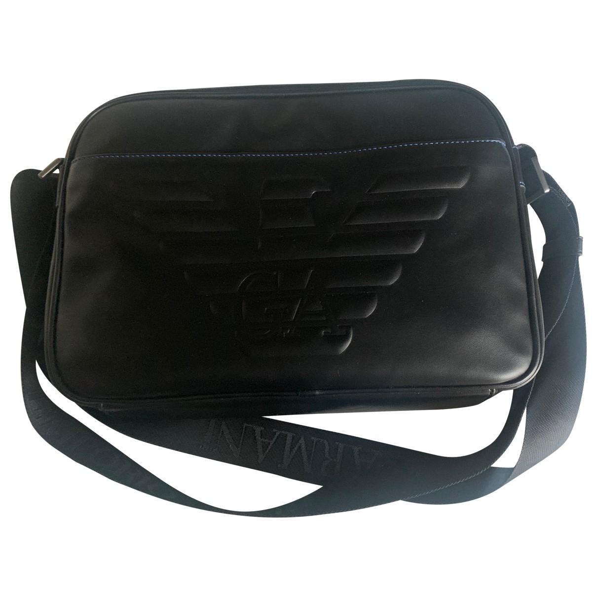 Emporio Armani \N Black Leather bag for Men \N