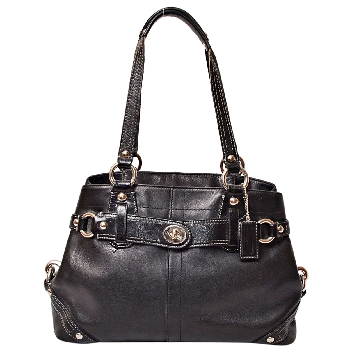 Coach Edie Black Leather handbag for Women \N
