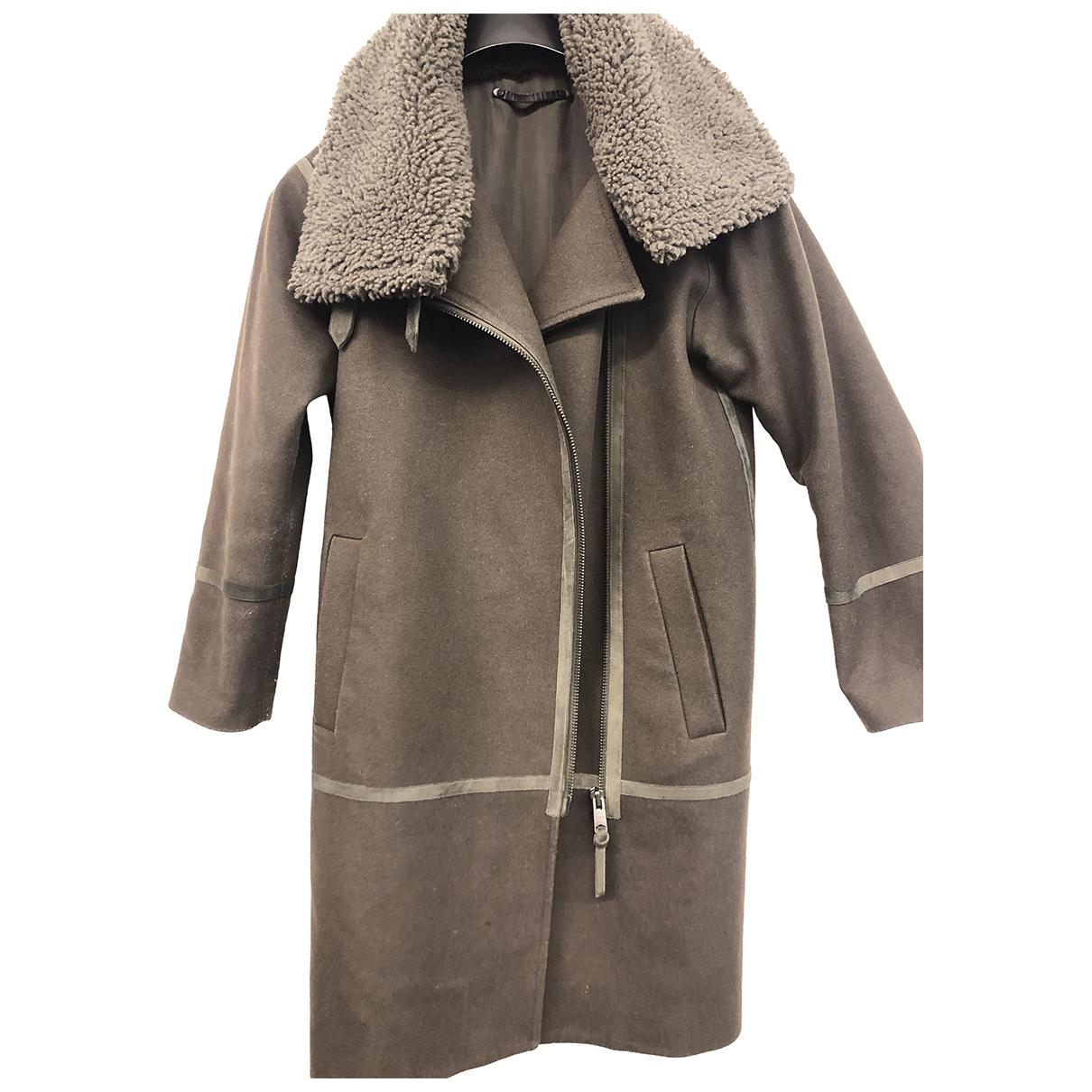 All Saints \N Khaki Wool coat for Women S International