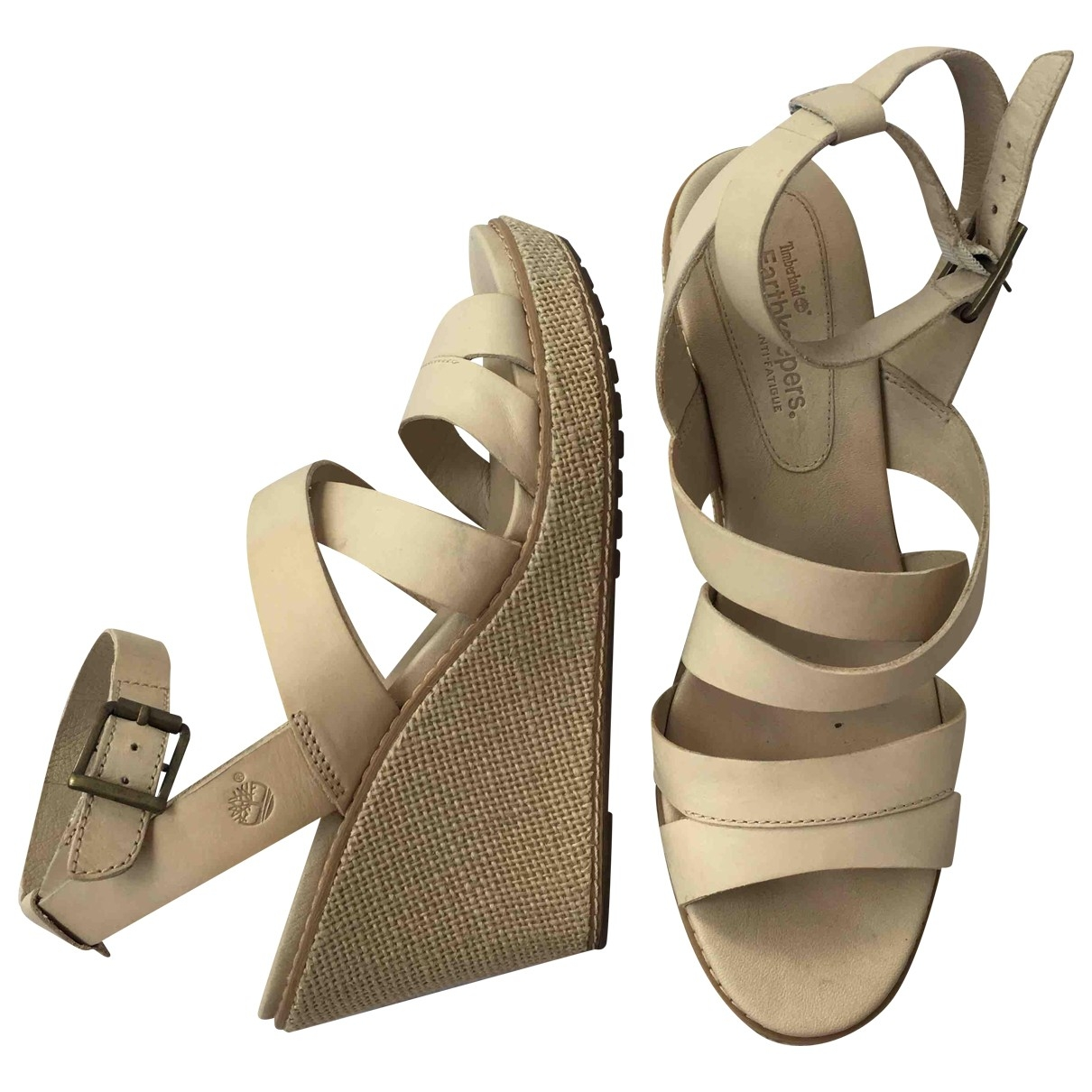Timberland \N Beige Leather Sandals for Women 40 EU