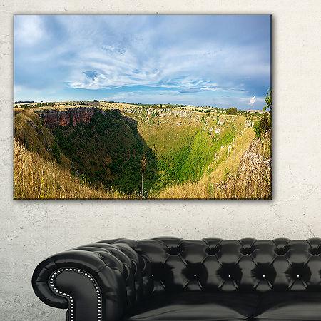 Designart Pulo Di Altamura Panorama Canvas Art, One Size , Blue