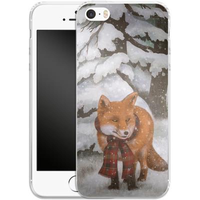 Apple iPhone 5 Silikon Handyhuelle - Winter Fox von Terry Fan