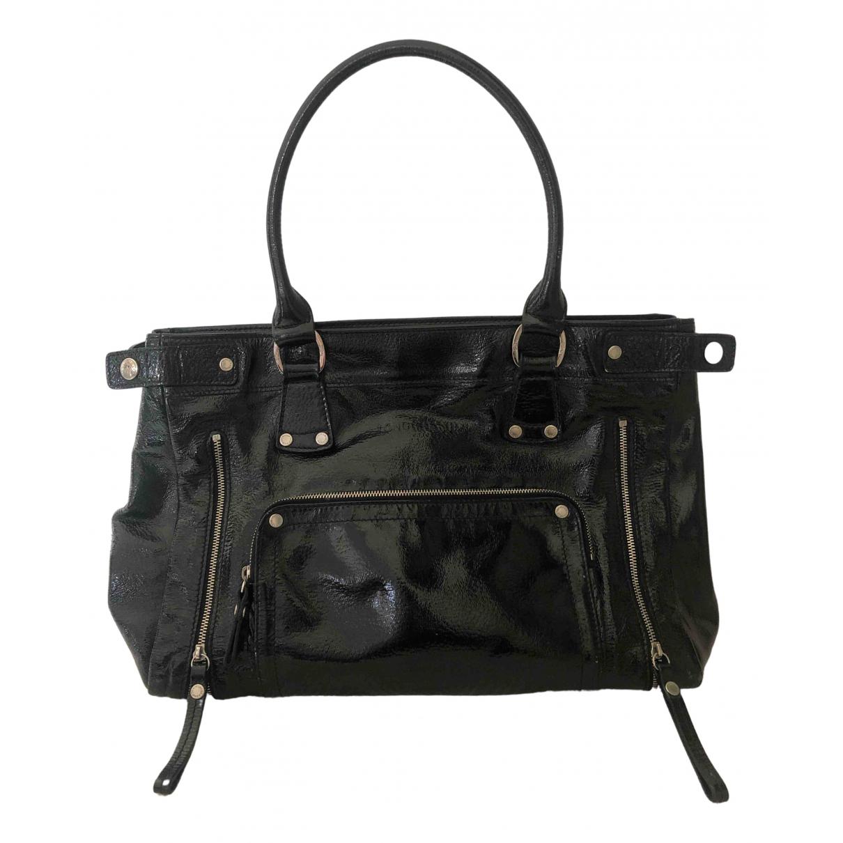 Longchamp \N Handtasche in  Schwarz Lackleder
