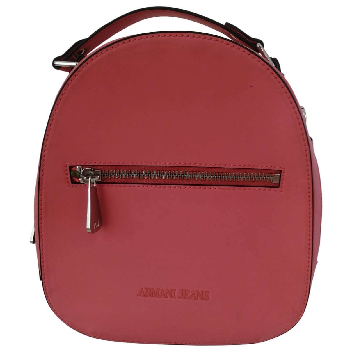 Armani Jeans \N Pink Leather backpack for Women \N
