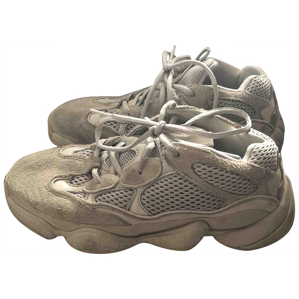 Yeezy X Adidas - Baskets 500 pour femme en suede - beige