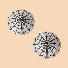 1pair Spider Web Pattern Nipple Cover