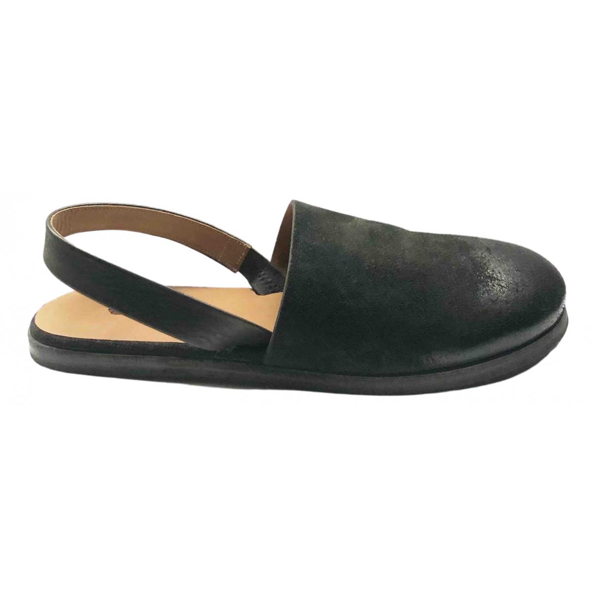 Marsell - Sandales   pour homme en suede - noir