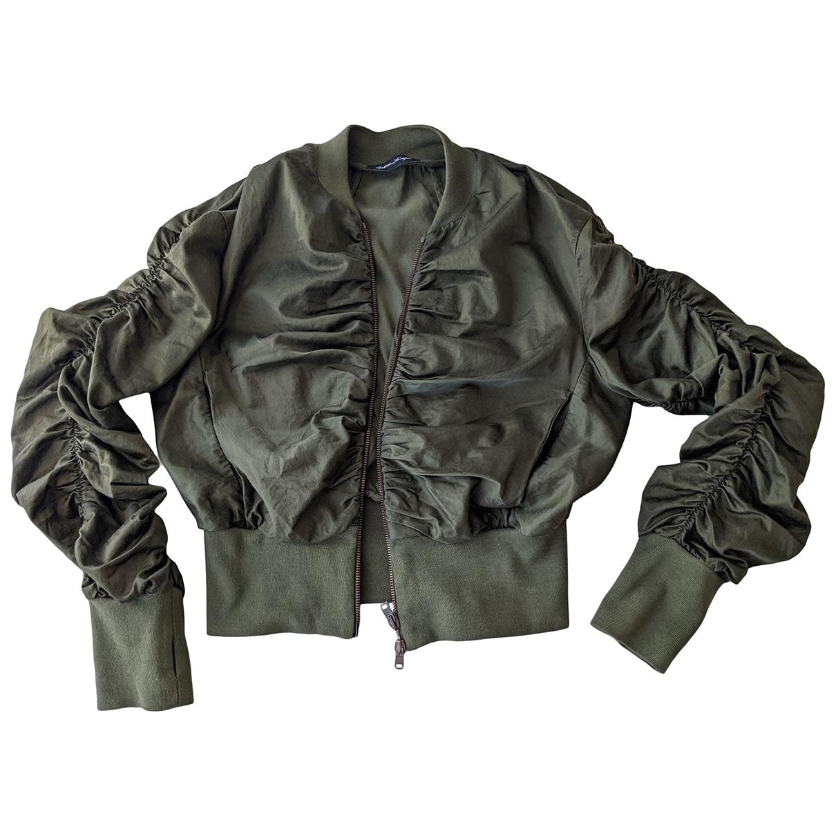 Non Signé / Unsigned \N Khaki Cotton jacket for Women M International