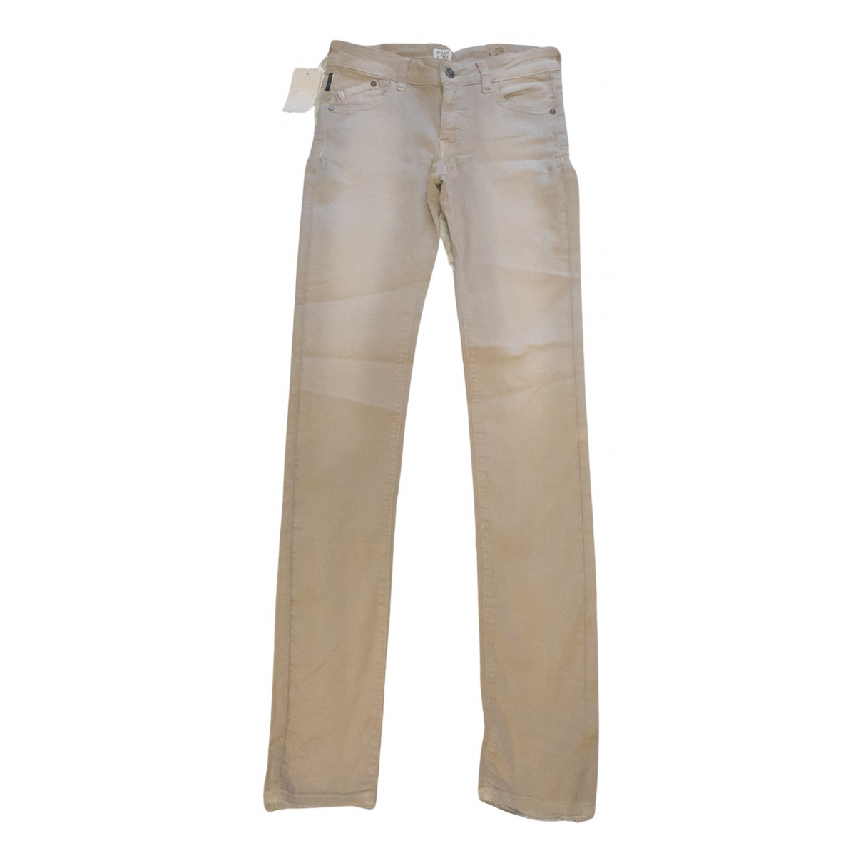 Armani Jeans N Beige Cotton Trousers for Kids 16 years - M UK
