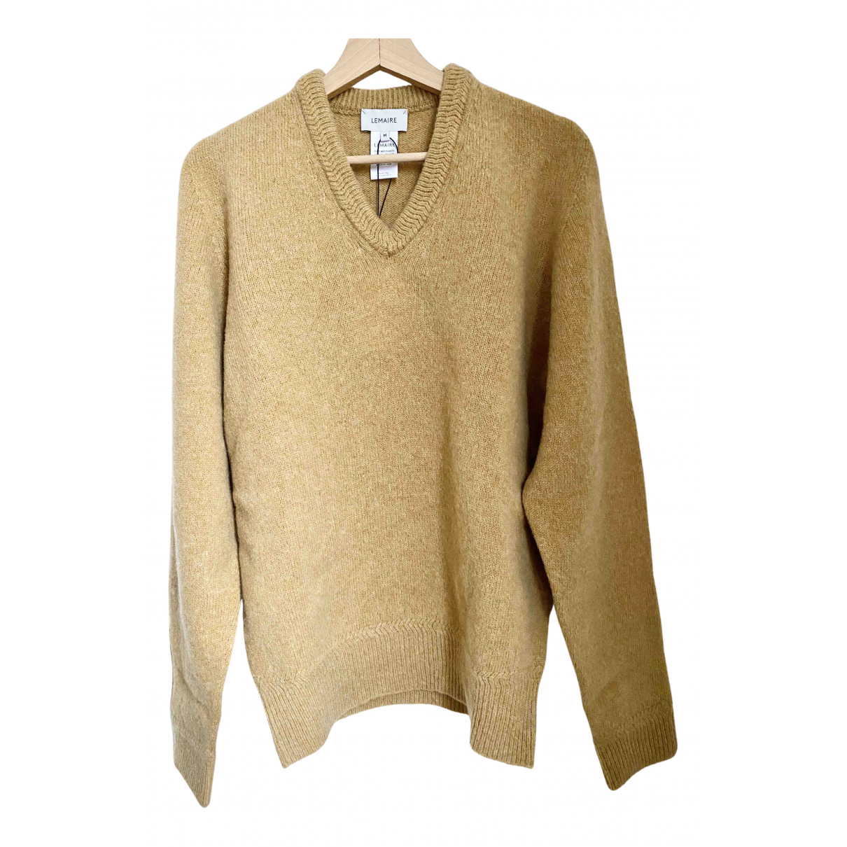 Lemaire \N Pullover.Westen.Sweatshirts  in  Beige Wolle