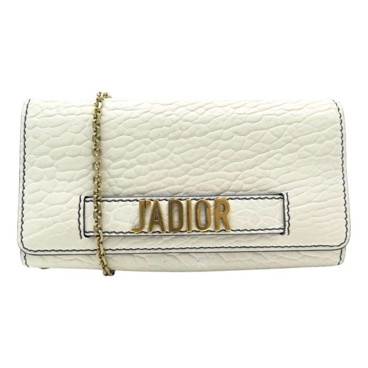 Dior - Pochette Jadior pour femme en cuir - blanc