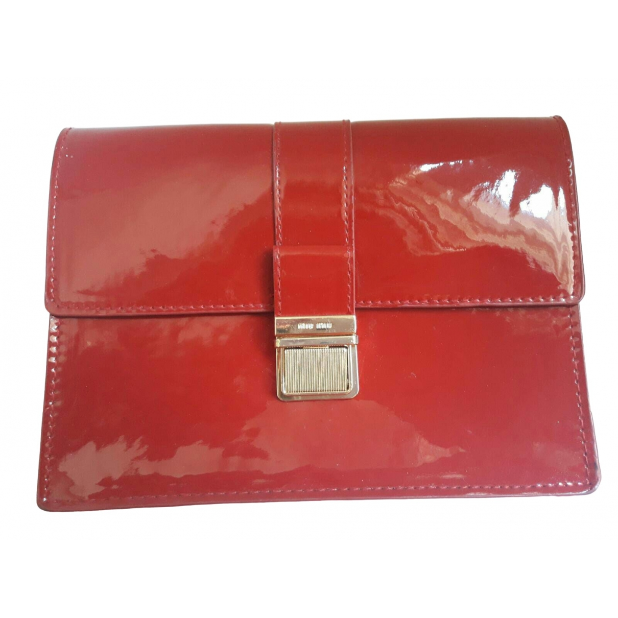 Miu Miu \N Burgundy Patent leather Clutch bag for Women \N
