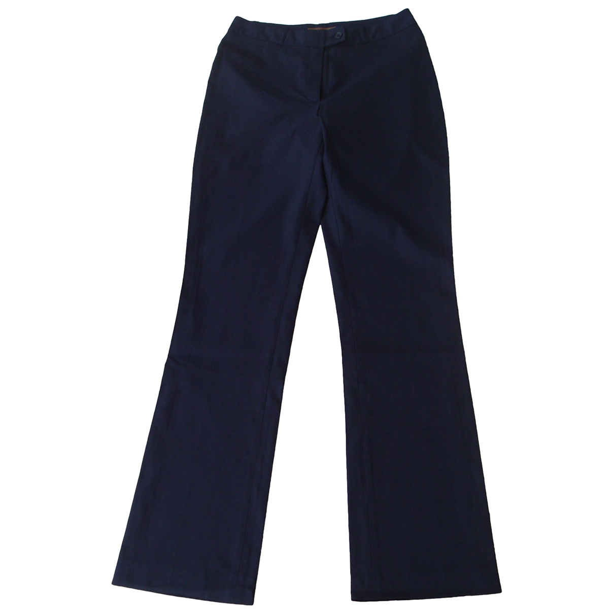 Non Signé / Unsigned \N Navy Cotton Trousers for Women 40 FR