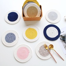 1pc Random Round Color Block Coaster