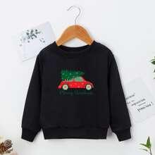 Toddler Boys Christmas Print Sweatshirt