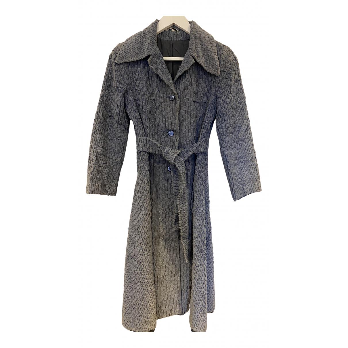 Non Signé / Unsigned N Blue Velvet coat for Women S International
